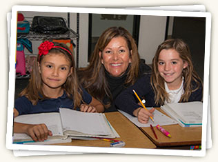 Alison Young, Assistant Director, often assists Mt. Helix Academy students