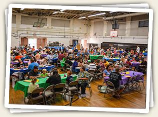 Mt. Helix Academy's Bingo Night always draws a big crowd