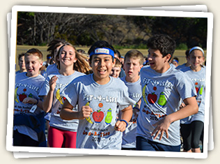 Mt. Helix Academy kids showing that being fit and having fun can go together